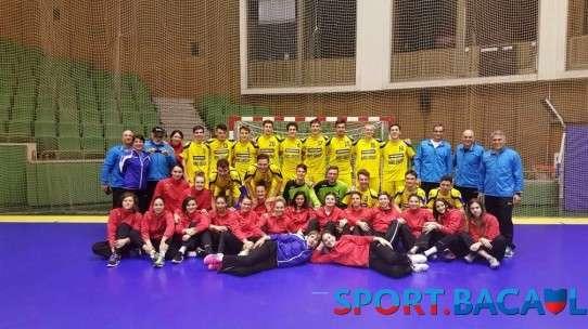 Selectionatele Romaniei de handbal juniori castigatoare la Balcaniada Tineretului