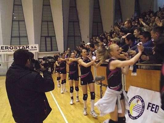 Stiinta Bacau, campioana Romaniei, saluta publicul