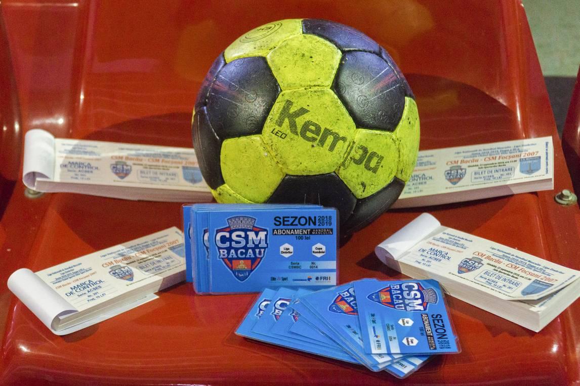 Handbal masculin / CSM Bacău a pus în vânzare abonamente și bilete pentru meciul de sâmbătă