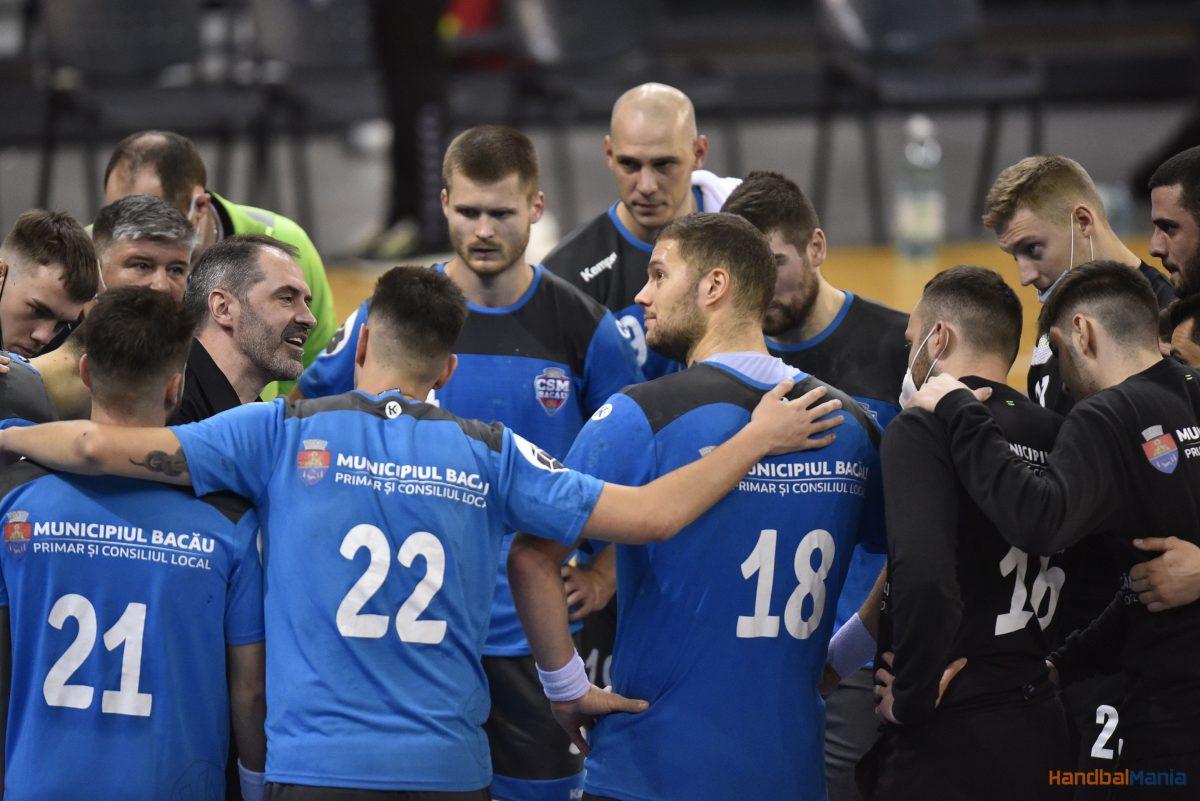 Handbal masculin / CSM Bacău câștigă și în 7 contra 9